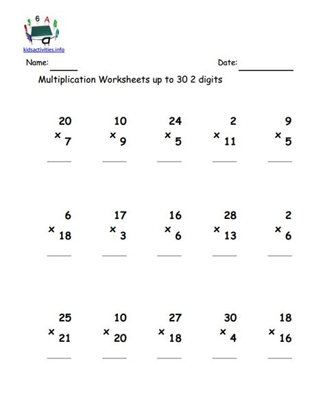 Double Digit Multiplication Worksheets Grade 2 Worksheets For All  Download And Share