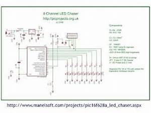 8 Channel Light Chaser Running Light Led Chaser Circuit