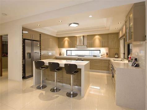 open plan kitchen design ideas modern open plan kitchen design using polished concrete kitchen photo 127143