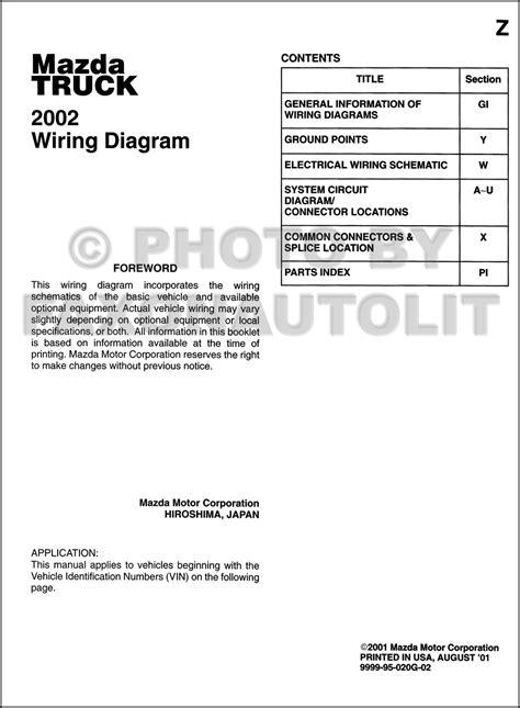Mazda Truck Wiring Diagram Manual Original