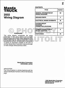 2002 Mazda Truck Wiring Diagram Manual Original B2300 B3000 B4000