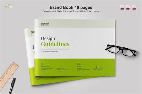 landscape brand book brochure templates creative market