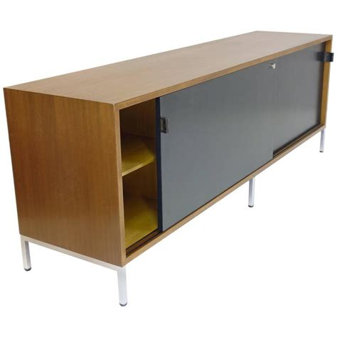 bureau commode sideboard by florence knoll in veneered walnut credenza