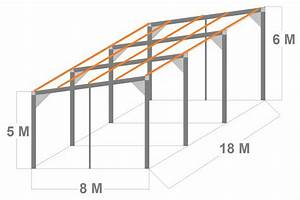prix construction garage au m2 7 kit 8x18x5m en 3x6m With prix construction garage au m2