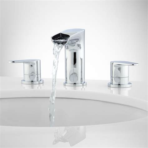 waterfall bathroom faucet chrome pagosa widespread waterfall faucet bathroom