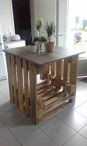 Ilot Centrale Cuisine : lot central cuisine pallet kitchen island 1001 pallets ~ Edinachiropracticcenter.com Idées de Décoration