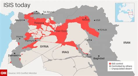 Where Is Isis Located?  Where Is Map
