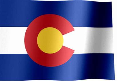 Colorado Flag State Animated Waving Flags States