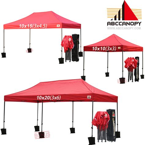 abccanopy deluxe easy pop  party tent canopy gazebo  wheeled bag weight ebay