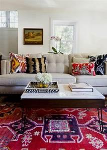 le tapis design la meilleure option pour votre chambre design With tapis moderne avec canapé couleur ficelle