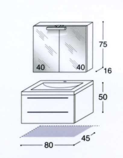 altezza specchio bagno da lavabo