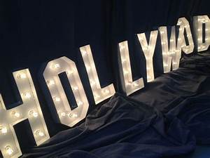 hand crafted hollywood sign marquee letter 18 inch tall With 18 marquee letters