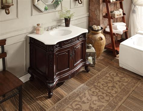 bathroom vanity rich cherry finish crystall