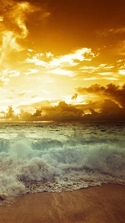Sunset Beach Sea Wave 1080 Wallpapers 1920