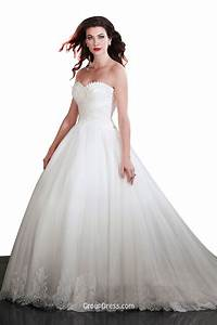 Beautiful ball gown strapless sweetheart tulle wedding for Beautiful and elegant wedding dresses