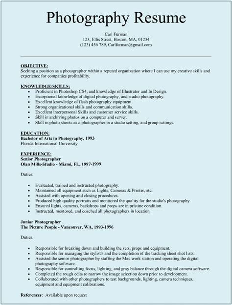 sle resume for photography internship resume ixiplay
