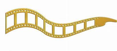 Film Strip Golden Transparent Background Domain Metal