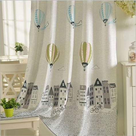 cartoon balloon window curtains  kids room korean style