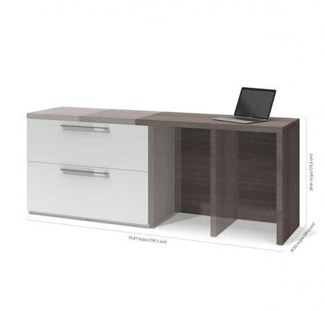 bureau d ordinateur small space de bestar avec classeur