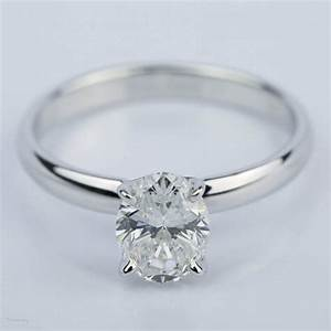 Classic Solitaire Engagement Ring With Oval Diamond 1 23 Ct