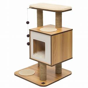 Arbre À Chat Pour Gros Chat : arbre chat v base noyer 52042 achat vente arbres ~ Nature-et-papiers.com Idées de Décoration