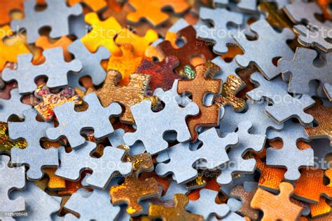 Heap Of Puzzle Pieces Full Frame Stock Photo - Download ...