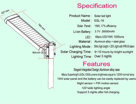 solar street l post mono solar power ce courtyard led street light with l