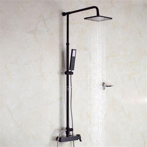 black non slip unique black painting outside shower faucets system