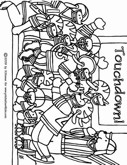 Coloring Football College Printable