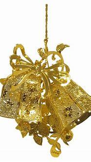 3D Gold Plated Brass Ornament (Bells) - PEI