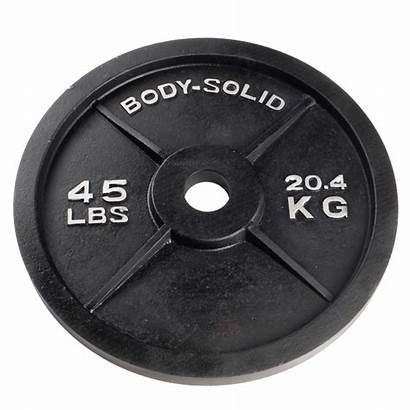 Weight Olympic Plate Plates 45 Lb Iron