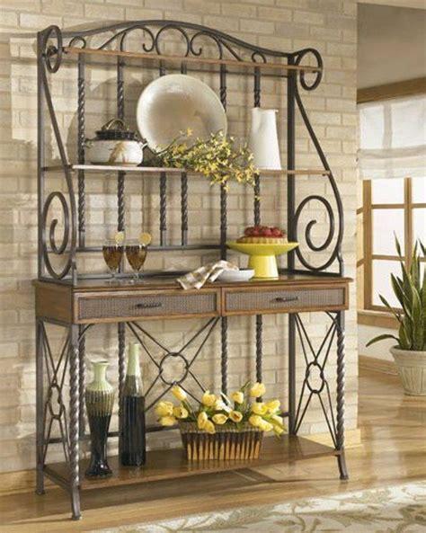 wrought iron bakers rack 10 useful bakers rack design ideas rilane