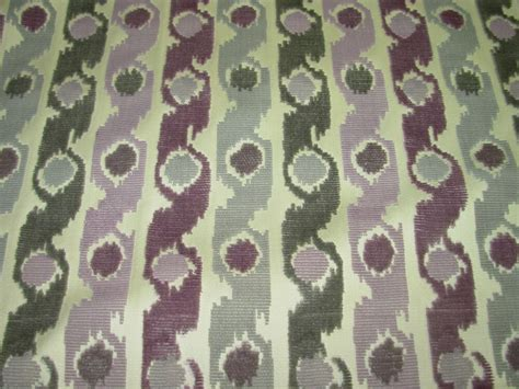 1950s Upholstery Fabric by 11 4 8 Yds Cut Velvet Modern Retro Geometric Awsome