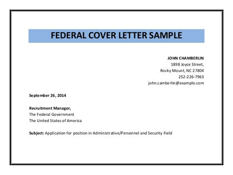 federal cover letter sle pdf
