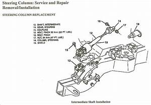 Remove 1994 Tilt Steering Column