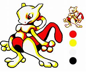 Image 150 Mewtwo Pokemon Yellow Sprite Draw By Albastrix