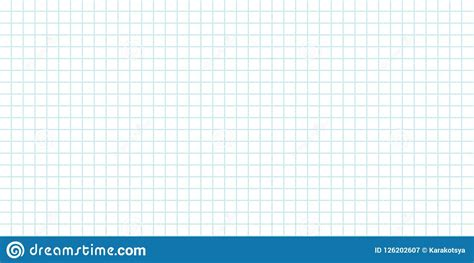 seamless grid background lined sheet  paper stock vector