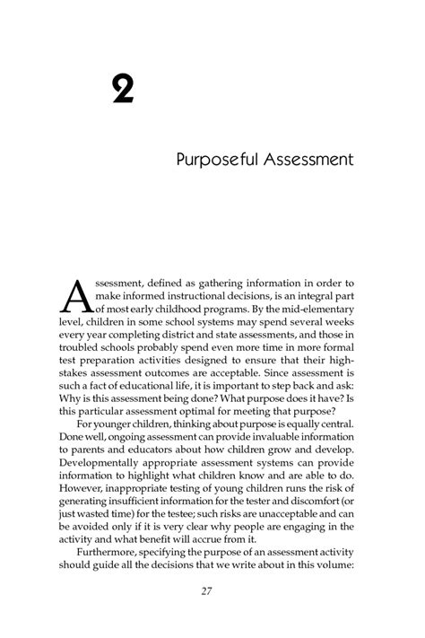 2 Purposeful Assessment | Early Childhood Assessment: Why