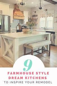 9, Dream, Farmhouse, Kitchen, Designs, To, Inspire, Your, Remodel