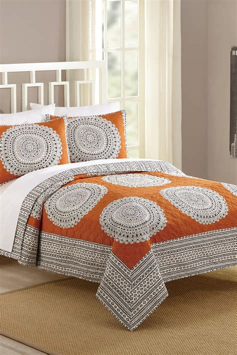 orange quilt set artistic quilt set orange nordstrom rack