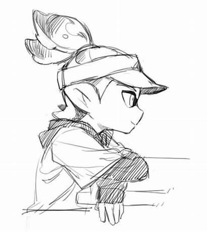 Splatoon Drawing Inkling Boy Drawings Character Sketch