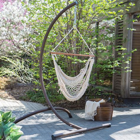 Swings And Hammocks by Island Bay Cotton Rope Hammock Chair With Steel Stand