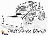 Tractor Coloring Plow Printable Farm Template sketch template