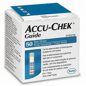 Tiras Para Controle De Glicemia Accu Chek Guide  U2013 Farmaxxi