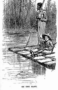 File:Huck and jim on raft.jpg - Wikimedia Commons