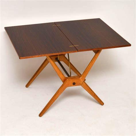 retro rosewood folding card table vintage