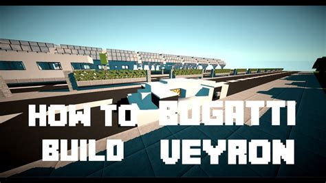 Minecraft  How To Build  Bugatti Veyron  Youtube