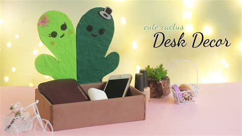 cute cactus desk decor room decor diy desk organizer