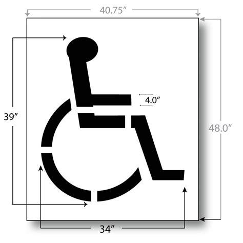 handicap parking stencil   international standard