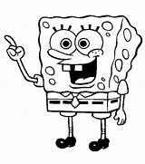 Spongebob Coloring Sponge Bob Colouring Getdrawings sketch template